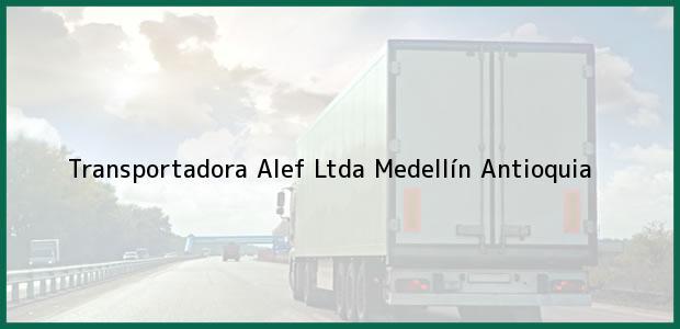 Teléfono, Dirección y otros datos de contacto para Transportadora Alef Ltda, Medellín, Antioquia, Colombia