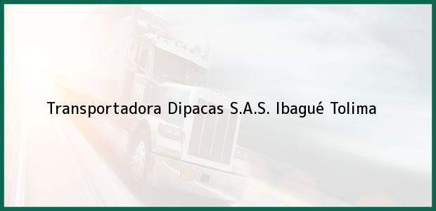 Teléfono, Dirección y otros datos de contacto para Transportadora Dipacas S.A.S., Ibagué, Tolima, Colombia