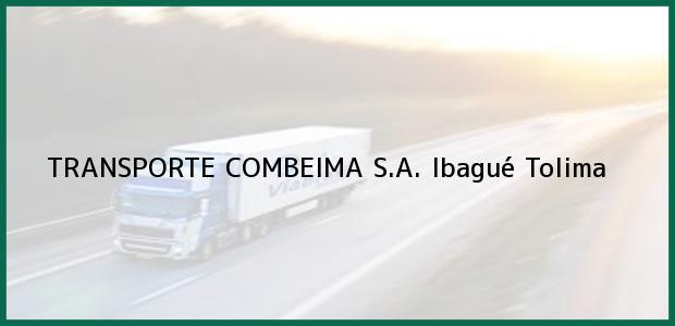 Teléfono, Dirección y otros datos de contacto para TRANSPORTE COMBEIMA S.A., Ibagué, Tolima, Colombia