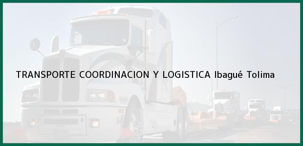 Teléfono, Dirección y otros datos de contacto para TRANSPORTE COORDINACION Y LOGISTICA, Ibagué, Tolima, Colombia