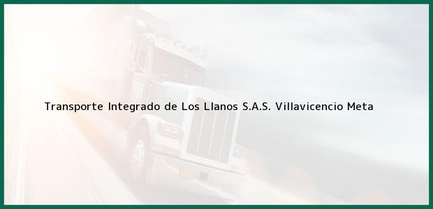 Teléfono, Dirección y otros datos de contacto para Transporte Integrado de Los Llanos S.A.S., Villavicencio, Meta, Colombia
