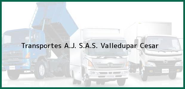 Teléfono, Dirección y otros datos de contacto para Transportes A.J. S.A.S., Valledupar, Cesar, Colombia