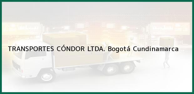 Teléfono, Dirección y otros datos de contacto para TRANSPORTES CÓNDOR LTDA., Bogotá, Cundinamarca, Colombia