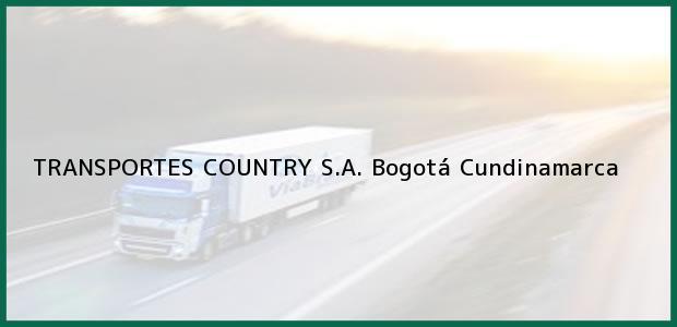 Teléfono, Dirección y otros datos de contacto para TRANSPORTES COUNTRY S.A., Bogotá, Cundinamarca, Colombia