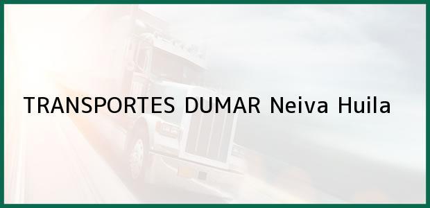 Teléfono, Dirección y otros datos de contacto para TRANSPORTES DUMAR, Neiva, Huila, Colombia