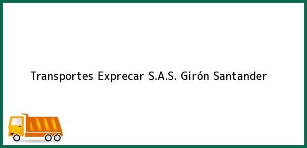 Teléfono, Dirección y otros datos de contacto para Transportes Exprecar S.A.S., Girón, Santander, Colombia