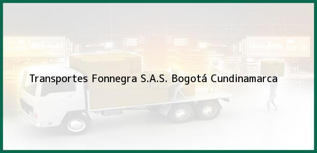 Teléfono, Dirección y otros datos de contacto para Transportes Fonnegra S.A.S., Bogotá, Cundinamarca, Colombia