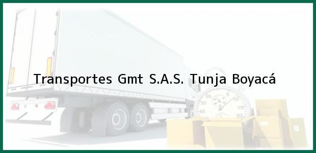 Teléfono, Dirección y otros datos de contacto para Transportes Gmt S.A.S., Tunja, Boyacá, Colombia