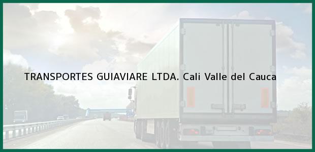 Teléfono, Dirección y otros datos de contacto para TRANSPORTES GUIAVIARE LTDA., Cali, Valle del Cauca, Colombia