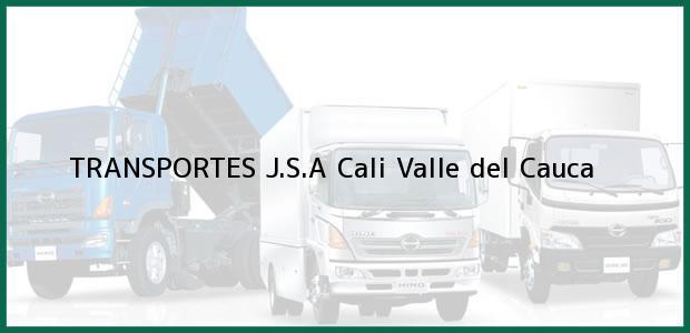 Teléfono, Dirección y otros datos de contacto para TRANSPORTES J.S.A, Cali, Valle del Cauca, Colombia