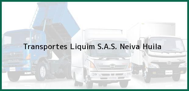 Teléfono, Dirección y otros datos de contacto para Transportes Liquim S.A.S., Neiva, Huila, Colombia