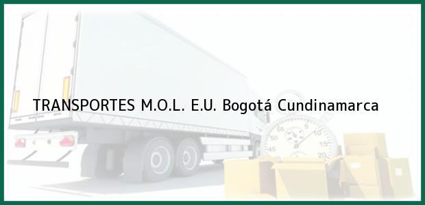 Teléfono, Dirección y otros datos de contacto para TRANSPORTES M.O.L. E.U., Bogotá, Cundinamarca, Colombia