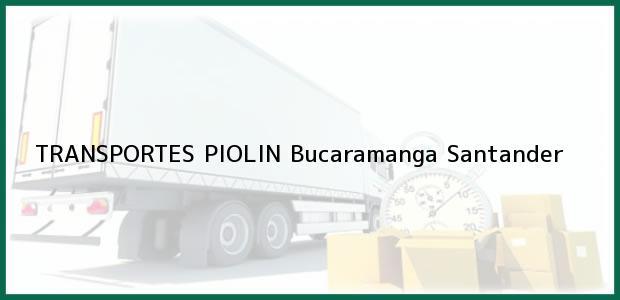 Teléfono, Dirección y otros datos de contacto para TRANSPORTES PIOLIN, Bucaramanga, Santander, Colombia