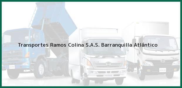 Teléfono, Dirección y otros datos de contacto para Transportes Ramos Colina S.A.S., Barranquilla, Atlántico, Colombia