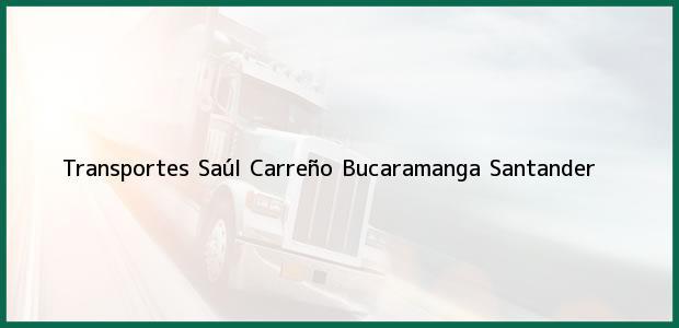 Teléfono, Dirección y otros datos de contacto para Transportes Saúl Carreño, Bucaramanga, Santander, Colombia
