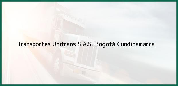 Teléfono, Dirección y otros datos de contacto para Transportes Unitrans S.A.S., Bogotá, Cundinamarca, Colombia