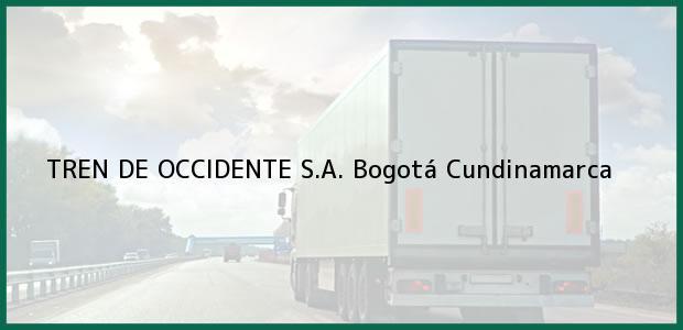 Teléfono, Dirección y otros datos de contacto para TREN DE OCCIDENTE S.A., Bogotá, Cundinamarca, Colombia