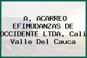 A. ACARREO EFIMUDANZAS DE OCCIDENTE LTDA. Cali Valle Del Cauca