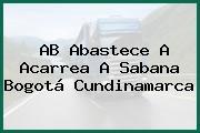 AB Abastece A Acarrea A Sabana Bogotá Cundinamarca