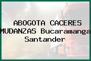 ABOGOTA CACERES MUDANZAS Bucaramanga Santander