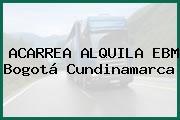 ACARREA ALQUILA EBM Bogotá Cundinamarca