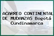 ACARREO CONTINENTAL DE MUDANZAS Bogotá Cundinamarca