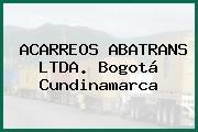 ACARREOS ABATRANS LTDA. Bogotá Cundinamarca
