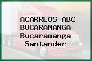 ACARREOS ABC BUCARAMANGA Bucaramanga Santander