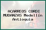 ACARREOS CORDI MUDANZAS Medellín Antioquia