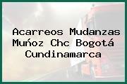 Acarreos Mudanzas Muñoz Chc Bogotá Cundinamarca