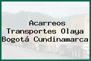 Acarreos Transportes Olaya Bogotá Cundinamarca
