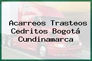 Acarreos Trasteos Cedritos Bogotá Cundinamarca