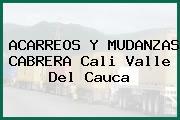 ACARREOS Y MUDANZAS CABRERA Cali Valle Del Cauca