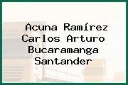 Acuna Ramírez Carlos Arturo Bucaramanga Santander