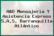 A&D Mensajeria Y Asistencia Express S.A.S. Barranquilla Atlántico