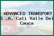 ADVANCED TRANSPORT S .A. Cali Valle Del Cauca