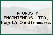 AFOROS Y ENCOMIENDAS LTDA. Bogotá Cundinamarca