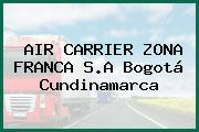 AIR CARRIER ZONA FRANCA S.A Bogotá Cundinamarca