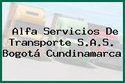 Alfa Servicios De Transporte S.A.S. Bogotá Cundinamarca