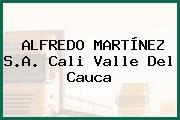 ALFREDO MARTÍNEZ S.A. Cali Valle Del Cauca
