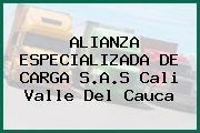 ALIANZA ESPECIALIZADA DE CARGA S.A.S Cali Valle Del Cauca