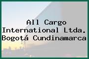 All Cargo International Ltda. Bogotá Cundinamarca