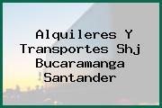 Alquileres Y Transportes Shj Bucaramanga Santander
