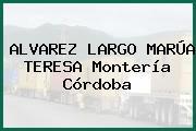 ALVAREZ LARGO MARÚA TERESA Montería Córdoba