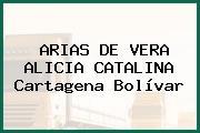 ARIAS DE VERA ALICIA CATALINA Cartagena Bolívar