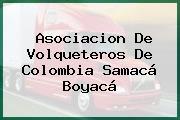 Asociacion De Volqueteros De Colombia Samacá Boyacá