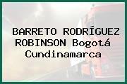 BARRETO RODRÍGUEZ ROBINSON Bogotá Cundinamarca