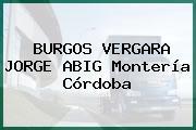 BURGOS VERGARA JORGE ABIG Montería Córdoba