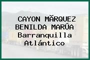 CAYON MÃRQUEZ BENILDA MARÚA Barranquilla Atlántico