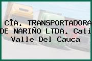 CÍA. TRANSPORTADORA DE NARIÑO LTDA. Cali Valle Del Cauca